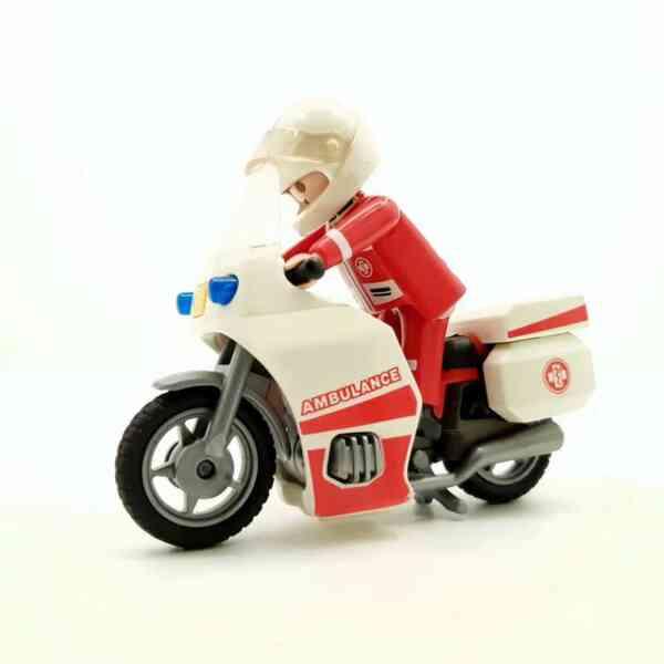 Playmobil Motociklista bolničar na motoru (3)