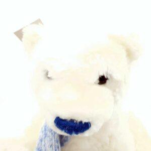 Plišana igracka beli medved sa šalom (3)