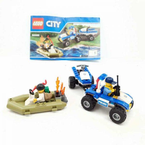 Lego set policajac na kvadu i lopov u čamcu (4)