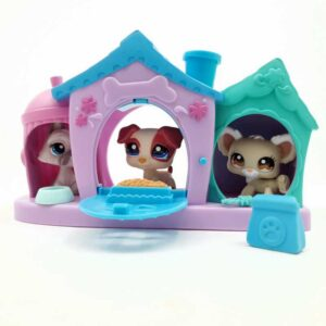 LPS Littlest Pet Shop 3 psa u kućici 2007 (2)