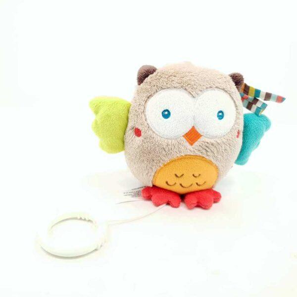 Plišana igračka sova muzička uspavanka na potez (2)