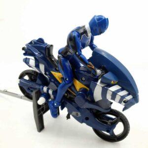 Power Rangers Jungle Fury Toy Motorcycle Blue Jaguar Strike Rider Bandai 2007 (2)