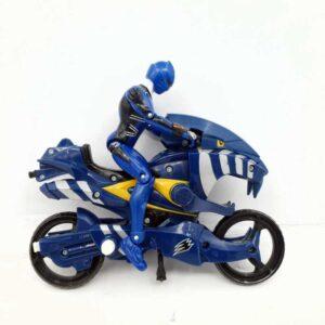 Power Rangers Jungle Fury Toy Motorcycle Blue Jaguar Strike Rider Bandai 2007 (3)
