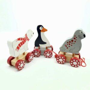 Drveni voz pingvin fokia i beli medved (1)