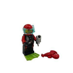 Lego mini set ronilac sa ribom i rakom na plaži (2)