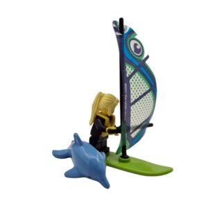 Lego mini set surferka sa delfinom na plaži (2)