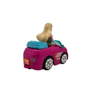 Mini auto sa Barbie lutkom na baterije Mattel (1)