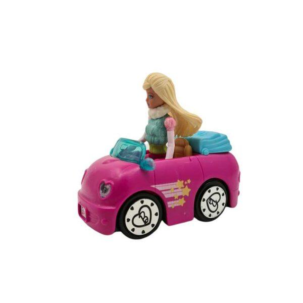 Mini auto sa Barbie lutkom na baterije Mattel (3)